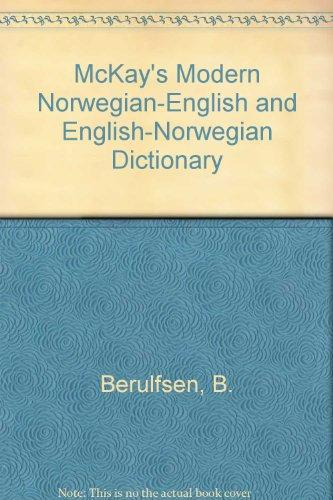 McKay's Modern Norwegian-English English-Norwegian Dictionary