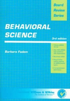 Behavioral Science (Board Review Series)