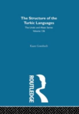Structure of the Turkic Languages (Uralic and Altaic Series #136), Vol. 136
