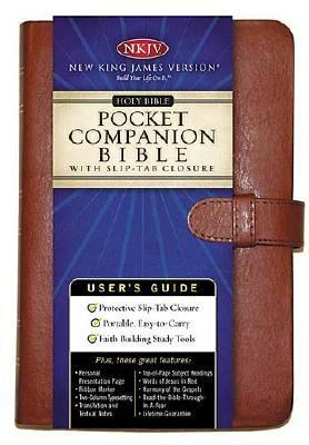 Holy Bible New King James Version, Companion, Tan, Bonded Leather, Slip tab