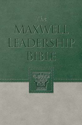 Maxwell Leadership Bible: Briefcase Edition - Nelson Bibles - Hardcover - Green/Tan Imitation Leather