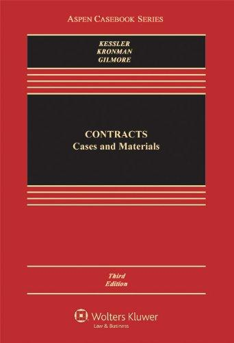 Contracts: Cases and Materials, Third Edition (Caseboo)