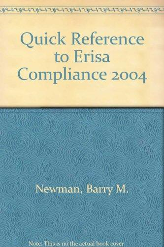 Quick Reference to Erisa Compliance 2004