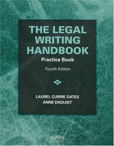 Legal Writing Handbook: Practice Book 4e