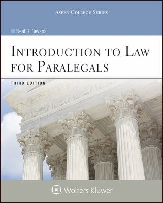 Introduction to Law for Paralegals, Third Edition (Introduction to Law Series)
