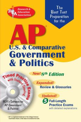 Ap Government & Politics Rea The Best Test Prep, Grade 10-12
