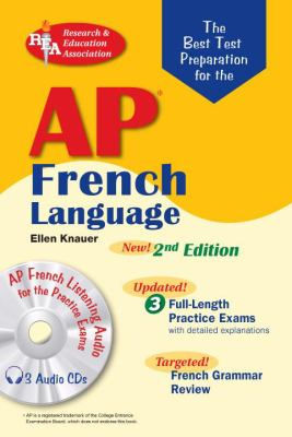AP French Language Exam with Audio CD (REA) -The Best Test Prep for
