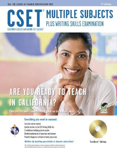 CSET Multiple Subjects Plus Writing Skills w/CD-ROM (CSET Teacher Certification Test Prep)