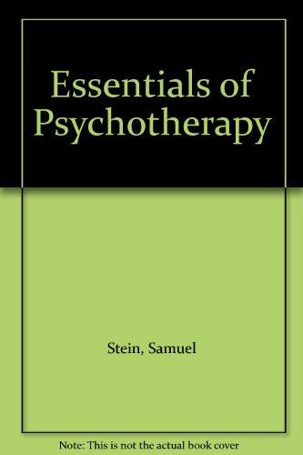 Essentials of Psychotherapy