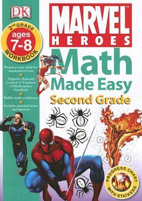Math Made Easy Marvel Heroes / Spider-man Second Grade Workbook