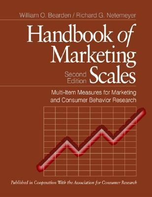 Handbook of Marketing Scales Multi-Item Measures for Marketing and Consumer Behavior Research