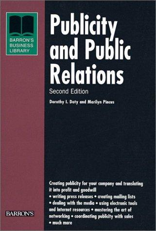 Publicity and Public Relations (Barron's Business Library)
