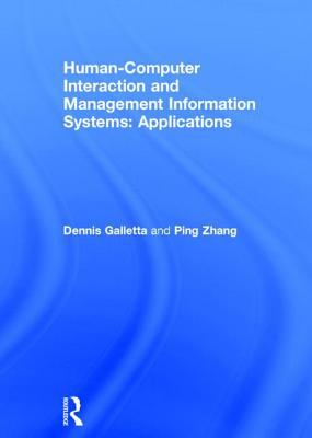 Human-computer Interaction and Management Information Systems Applications