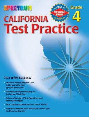 Spectrum State Specific California Test Practice, Grade 4