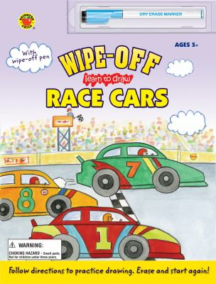Wipe-Off Learn to Draw Race Cars [With Marker]