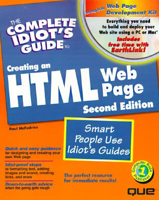 Complete Idiot's Guide to Creating an Html Web Page
