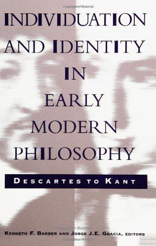 Individuation and Identity in Early Modern Philoso: Descartes to Kant