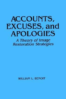 Accounts, Excuses, and Apologies A Theory of Image Restoration Strategies