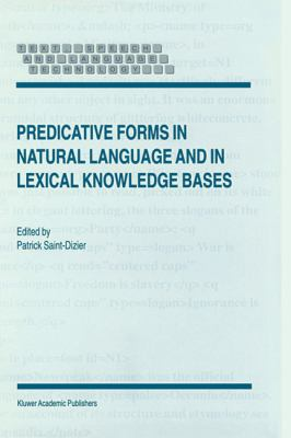 Predicative Forms in Natural Language and in Lexical Knowledge Bases