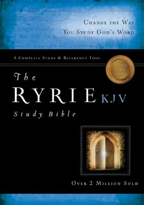 The Ryrie KJV Study Bible Genuine Leather Burgundy- Red Letter