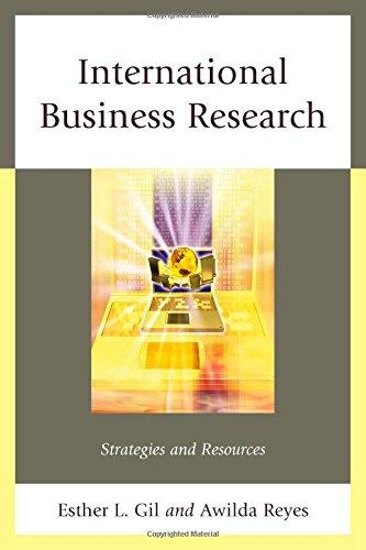 International Business Research: Strategies and Resources