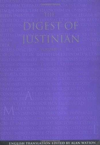 The Digest of Justinian (2 Volume Set)