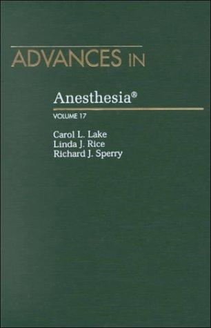 Advances in Anesthesia. Volume 17