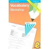 Vocabulary Workshop: Level G Enhanced Edition