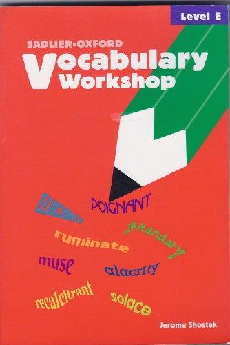 Vocabulary Workshop: Level E