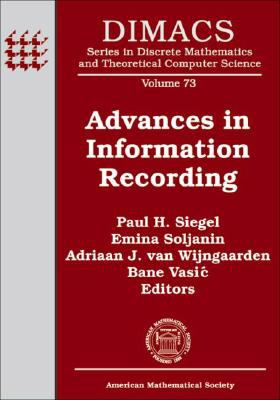 Advances in Information Recording