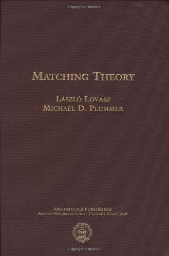 Matching Theory (AMS Chelsea Publishing)