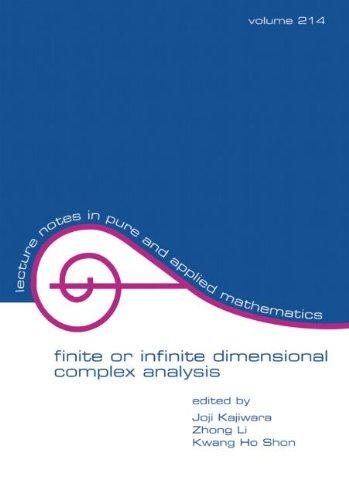 Finite or Infinite Dimensional Complex Analysis (Lecture Notes in Pure and Applied Mathematics)