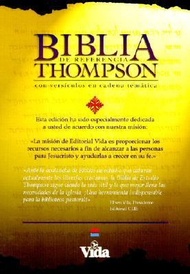 Biblia de Referencia Thompson: Reina-Valera 1960 Revision, piel especial negro, indice (Thompson Chain Reference Bible, black bonded leather, thumb-indexed)