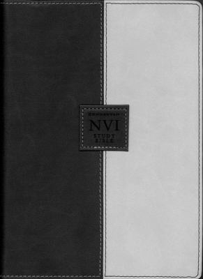 Biblia De Estudio Nvi Nueva Version Internacional/Black & Gray Two Tone
