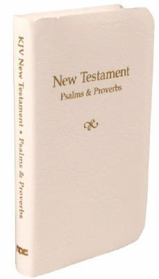 Vest-Pocket New Testament With Psalms and Proverbs King James Version, White Imitation Leather