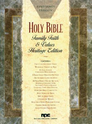 Holy Bible King James Version, Black Padded Bonded Leather, Family Faith and Values