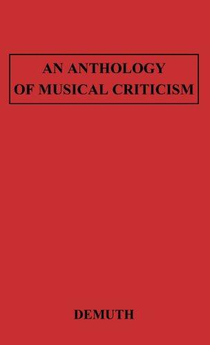 An Anthology of Musical Criticism