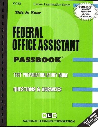 Federal Office Assistant(Passbooks) (Passbook for Career Opportunities)