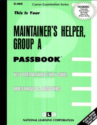 Maintainer's Helper, Group A(Passbooks)