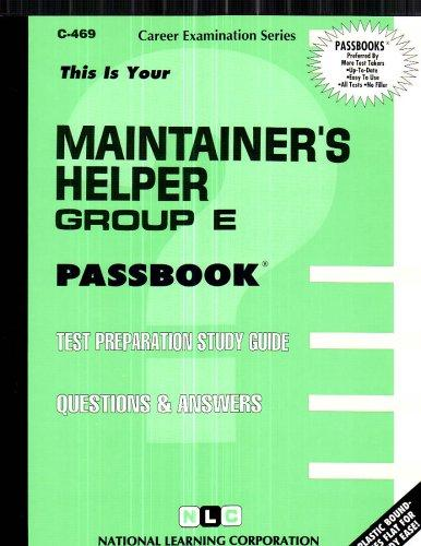 Maintainer's Helper, Group E(Passbooks) (C-469)