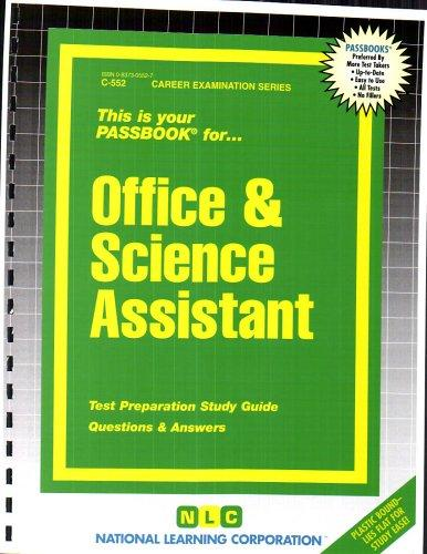 Office & Science Assistant(Passbooks)