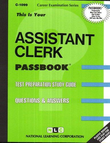 Assistant Clerk(Passbooks) (Career Examination Series : C-1099)
