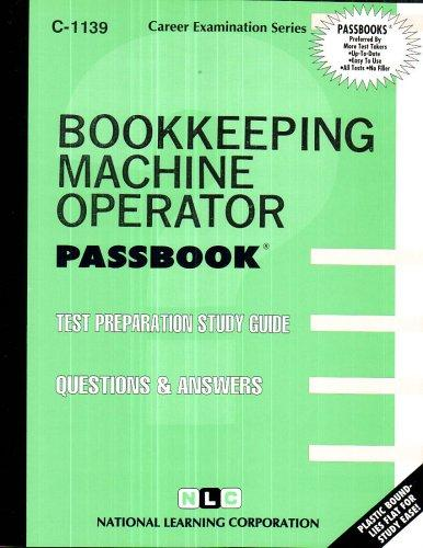 Bookkeeping Machine Operator(Passbooks)
