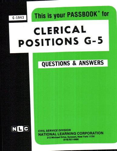 Clerical Positions G-5(Passbooks) (C 1943)