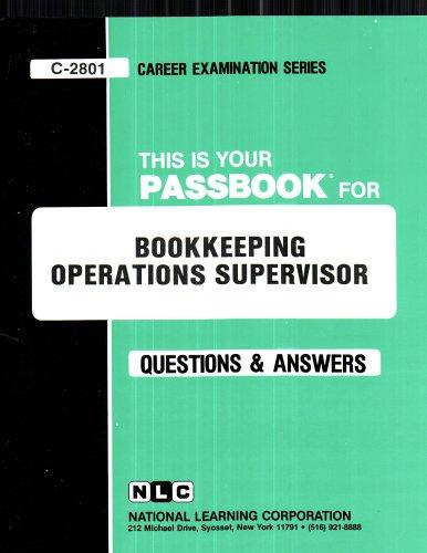 Bookkeeping Operations Supervisor(Passbooks)