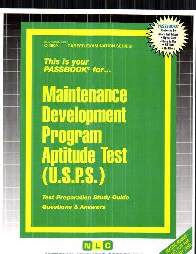 Maintenance Development Program Aptitude Test (USPS)(Passbooks)