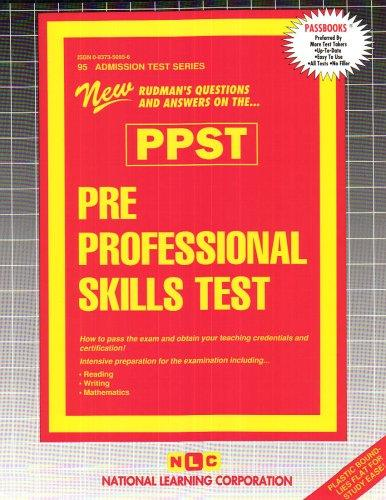 Pre Professional Skills Test (PPST) (Admission Test Series)