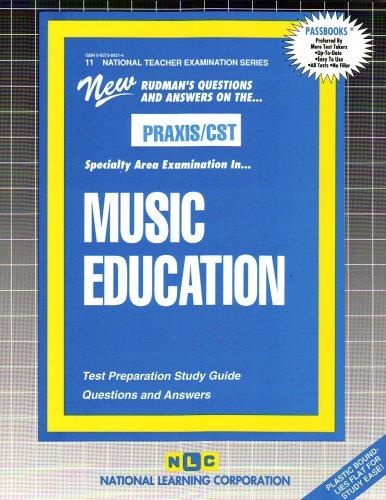 MUSIC EDUCATION (National Teacher Examination Series) (Content Specialty Test) (Passbooks) (NATIONAL TEACHER EXAMINATION SERIES (NTE))