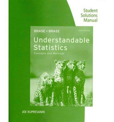 Understandable Statistics (Concepts and Methods) Student Solutions Manual