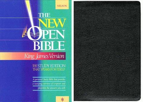 Holy Bible: The New Open Bible, Study Edition, King James Version, Black Genuine Leather
